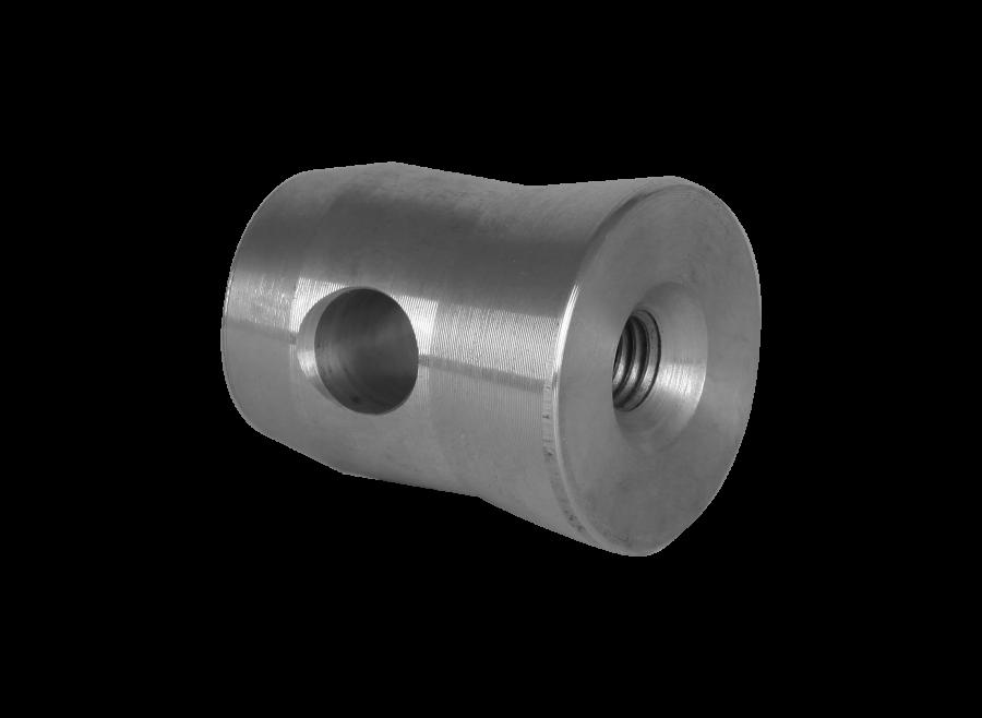 3113 | 3113 Halfconnector male aluminium | ExhibitAluTruss