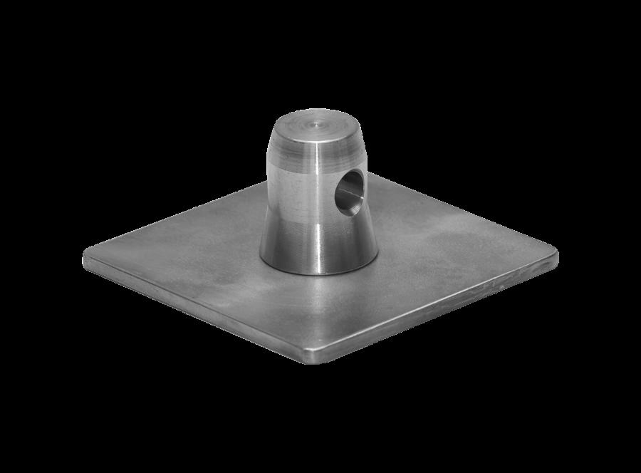 3001   3001 Base plate for FT31 male   ExhibitAluTruss