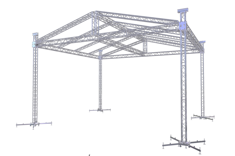 ROOF-2 8x6m |  | ExhibitAluTruss