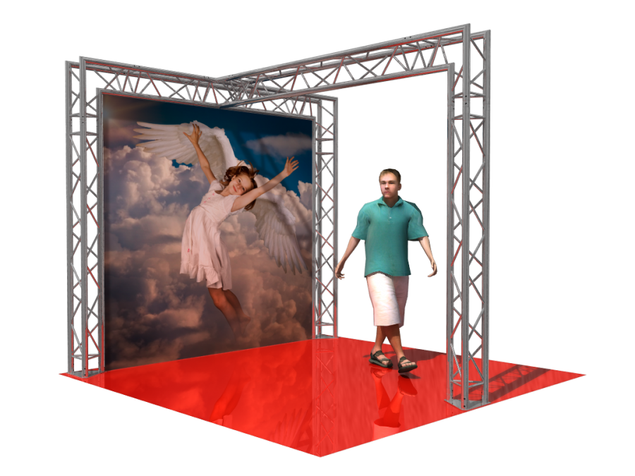 5102 | Aluminum Trade Show Booth 3x2.5x3m (9.84x8.20x9.84ft) | ExhibitAluTruss