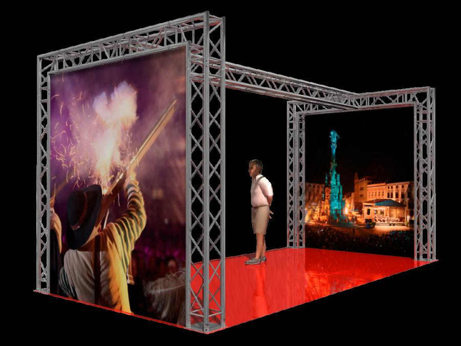 5202 | Aluminum Trade Show Booth  6x3x3m (19.69x9.85x9.85ft) | ExhibitAluTruss