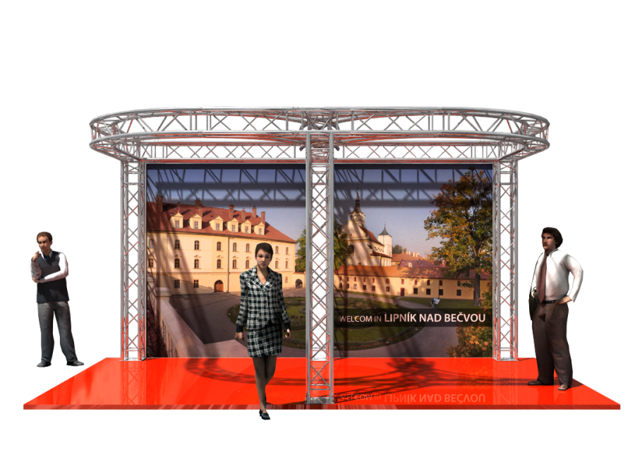 5204 | Aluminum Trade Show Booth 5.5x3x3m (18.04x9.85x9.85ft) | ExhibitAluTruss