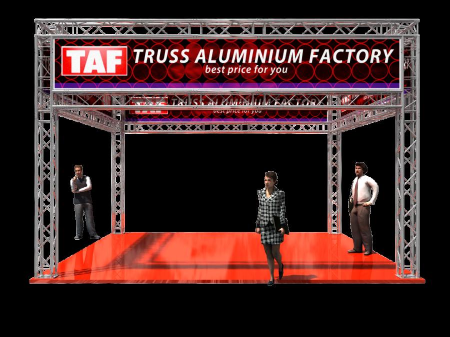 5301 | Aluminum Trade Show Booth 6x6x4m (19.69x19.69x13.12ft) | ExhibitAluTruss