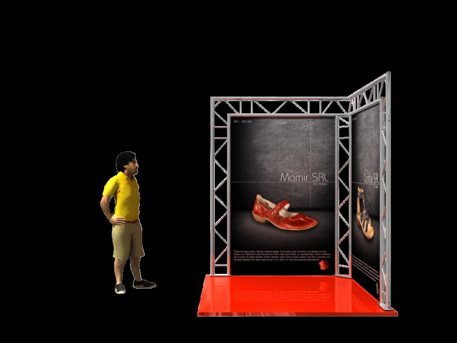 5001 | Aluminum Trade Show Booths 2x2.5x2m (6.56x8.20x6.56ft) | ExhibitAluTruss
